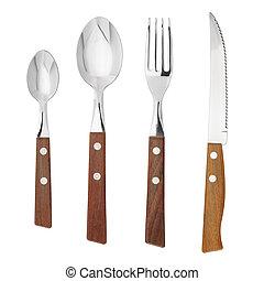 cuchara, tenedor, cuchillo