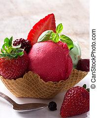 cucharadas, helado