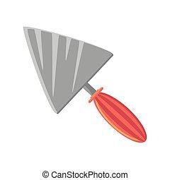 cuchillo, blanco, herramienta, plano de fondo, masilla