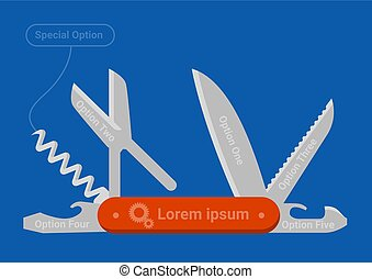 cuchillo, bolsillo, multifunctional