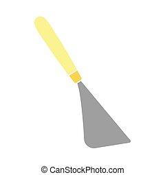 cuchillo, paleta, icono