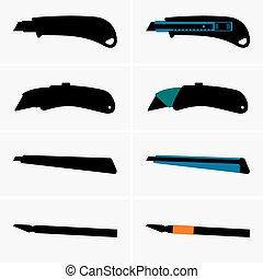 cuchillos, cortador