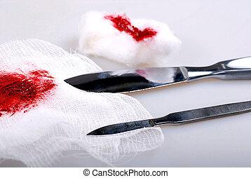 cuchillos, escalpelo