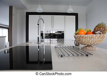 cucina casa, vista, contemporaneo, generale