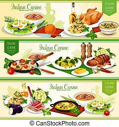 cucina, formaggio, carne, pasta, fish, italiano