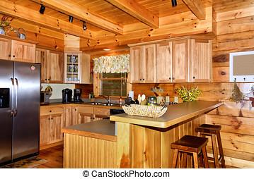 cucina, in, cabina
