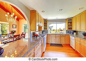 cucina, interno, bello