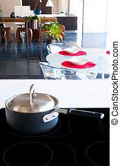 cucina, interno, dettaglio