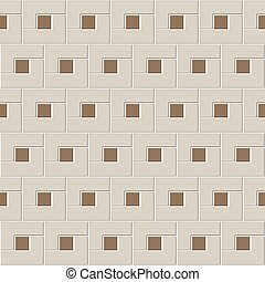 cucina, interno., marrone, astratto, stanza, ceramica, illustrazione, geometrico, decorazione, piccolo, quadrato, seamless, modello, vettore, blocchi, tiles., mosaico, forma, struttura, l, disegno, pavimento