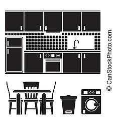 cucina, oggetti