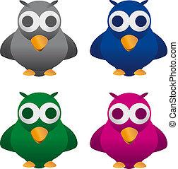 Cuckoo bird - merry cuckoo bird, four color combinations