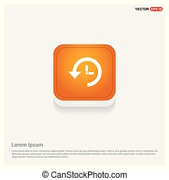 Cuckoo clock icon Orange Abstract Web Button