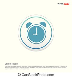 Cuckoo clock icon - white circle button