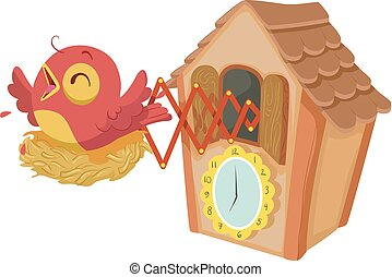 Cuckoo Clock Illustration