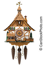 Cuckoo clock isolated on white background - 3D illustration
