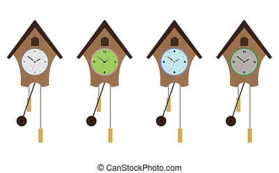 Cuckoo-clock set. EPS 10