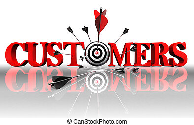 cuctomers red word and conceptual target