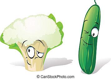 cucumber and cauliflower