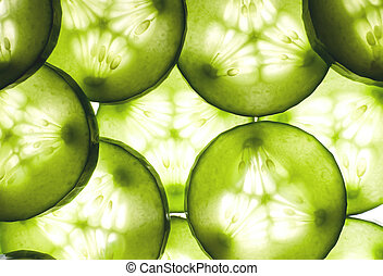 Cucumber background - Fresh cucumber background
