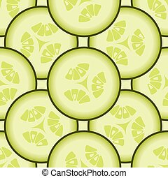 Cucumber background vector seamless pattern