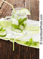 Cucumber basil lemonade.