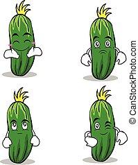 cucumber character cartoon collection set