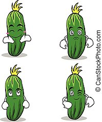 cucumber character cartoon collection set