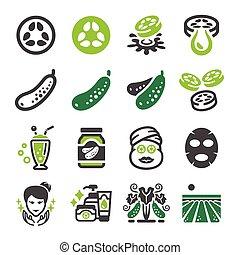 cucumber icon set
