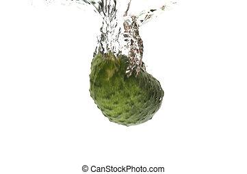 cucumber in water closeup