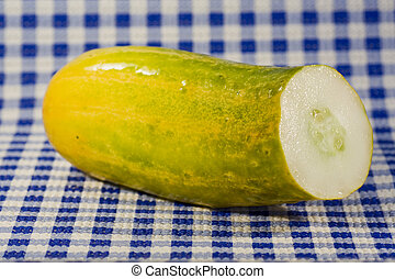 Cucumber on the table