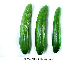Cucumber - Fresh Cucumber isolated over white background.