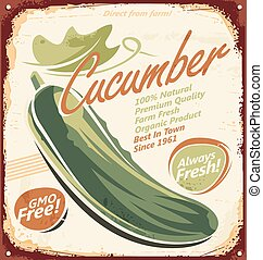 Cucumber retro sign design