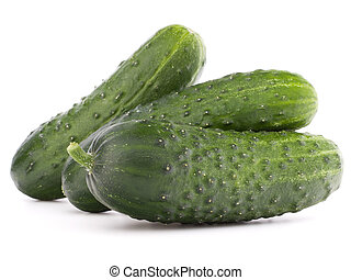 Cucumber vegetable isolated on white background cutout -...
