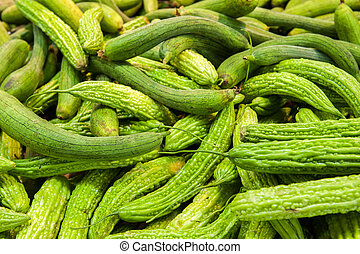Cucumbers at market