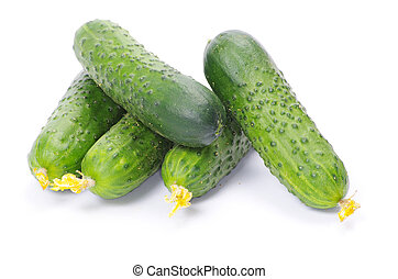 cucumbers - Cucumbers on the white background