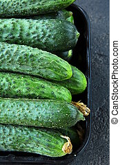 cucumbers in a box