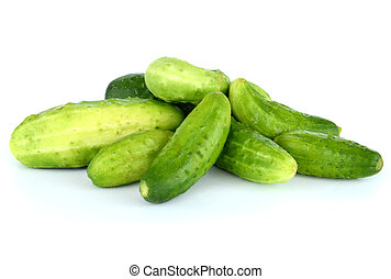 Cucumbers isolated on white.
