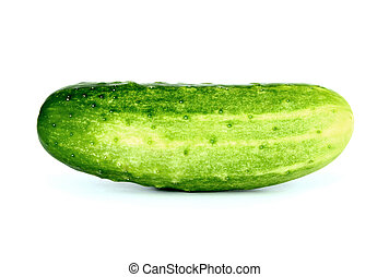 Cucumbers isolated on white with clipping path