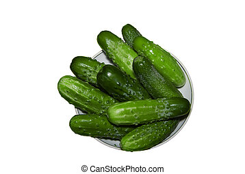 Cucumbers on a plate.