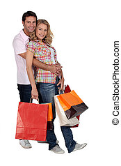 Cuddle with shopping