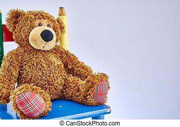 Cuddly Toy Bear - A studio photo of a toy bear