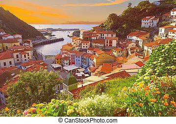 Cudillero village in Asturias Spain