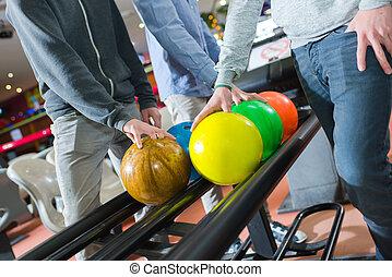 cueillette, balles, bowling