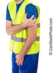 cuello azul, worker.