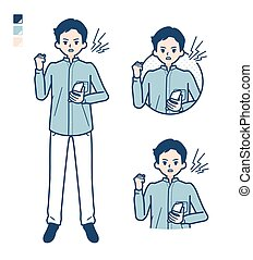 cuello, camisa, estante, man_smartphone-anger, simple