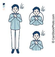 cuello, man_cross-with-arms, camisa, estante, simple