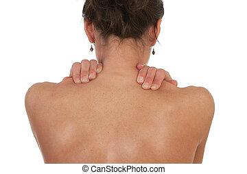 cuello, y, hombro, dolor músculo
