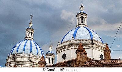 cuenca, cúpulas, iglesia