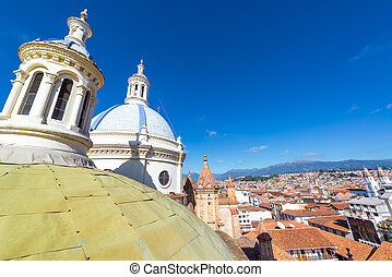 Cuenca Cityscape and Cathedral Dome