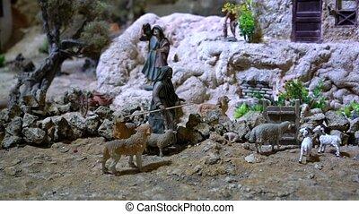 Largest animated nativity scene in South America. Shephard...